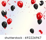 red black balloons  confetti... | Shutterstock .eps vector #692226967