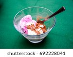 Home Made Ice Cream On Table...