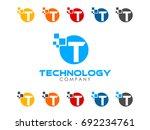 t letter icon | Shutterstock .eps vector #692234761