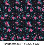 vector seamless pattern. pretty ... | Shutterstock .eps vector #692235139