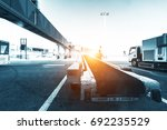 daily life at the international ... | Shutterstock . vector #692235529