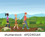 vector illustration of happy...   Shutterstock .eps vector #692240164