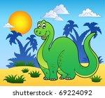 dinosaur in prehistoric... | Shutterstock .eps vector #69224092