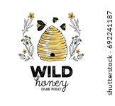 honey label design. concept for ... | Shutterstock .eps vector #692241187