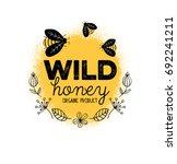 honey label design. concept for ...   Shutterstock .eps vector #692241211