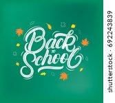 back to school hand written...   Shutterstock . vector #692243839
