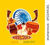 india independence day... | Shutterstock .eps vector #692244181