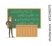 young university teacher near... | Shutterstock .eps vector #692248375