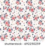 vector seamless pattern. pretty ... | Shutterstock .eps vector #692250259
