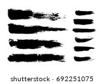 brush strokes isolated. ink... | Shutterstock .eps vector #692251075