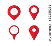 map pin icons | Shutterstock .eps vector #692255251