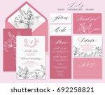 template rustic wedding... | Shutterstock .eps vector #692258821