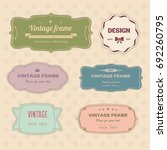 vintage label collection... | Shutterstock .eps vector #692260795