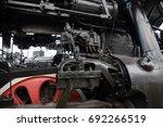 steam locomotive mechanism of... | Shutterstock . vector #692266519
