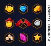 set of game 2d awards icons for ...