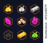 set of game 2d treasure icons...