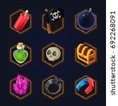 set of game 2d pirate icons for ...