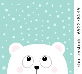 polar white little small bear... | Shutterstock .eps vector #692278549