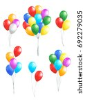 set of colored  balloons bunch...   Shutterstock .eps vector #692279035