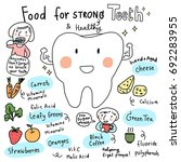 food for healthy teeth concept... | Shutterstock .eps vector #692283955