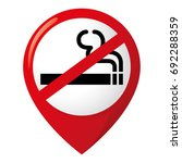 icon pictogram  pin non smoking ... | Shutterstock .eps vector #692288359