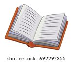 cartoon image of book icon.... | Shutterstock .eps vector #692292355