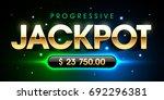 progressive jackpot casino...   Shutterstock .eps vector #692296381