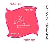 hammer  nail | Shutterstock .eps vector #692296591