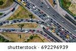 aerial top view of road...   Shutterstock . vector #692296939