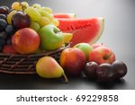 Fruits. Various Fresh Ripe...