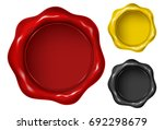 wax seal in three versions  ... | Shutterstock .eps vector #692298679