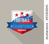 2018 football champions badge... | Shutterstock .eps vector #692303041
