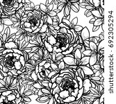 abstract elegance seamless... | Shutterstock .eps vector #692305294