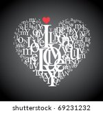 Heart Shape From Letters  ...