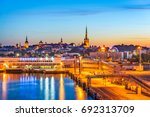 tallinn  estonia harbor and... | Shutterstock . vector #692313709