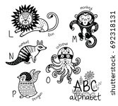 animals alphabet l   p for... | Shutterstock .eps vector #692318131