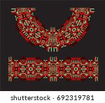 neckline is embroidered with a...   Shutterstock .eps vector #692319781
