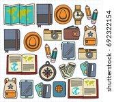 vector doodle set with travel... | Shutterstock .eps vector #692322154