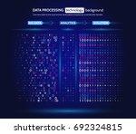 big data visualization.... | Shutterstock .eps vector #692324815