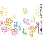 Children's Floral Color...
