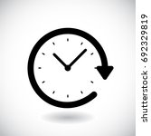 restore clock icon isolated on... | Shutterstock .eps vector #692329819