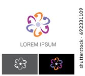 abstract circle colored logo   Shutterstock .eps vector #692331109