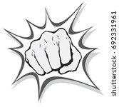 punching fist hand vector  | Shutterstock .eps vector #692331961