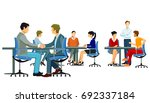 welcome in the company with... | Shutterstock . vector #692337184