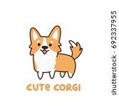 cute dog breed welsh corgi. it... | Shutterstock .eps vector #692337955