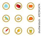 home repair icons set. cartoon... | Shutterstock .eps vector #692341474