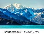 alaska mountains landscape in... | Shutterstock . vector #692342791
