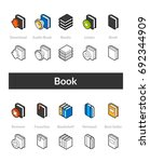 set of isometric icons in... | Shutterstock .eps vector #692344909