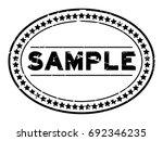 grunge black sample oval rubber