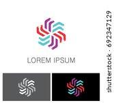 circle arrow colored logo   Shutterstock .eps vector #692347129